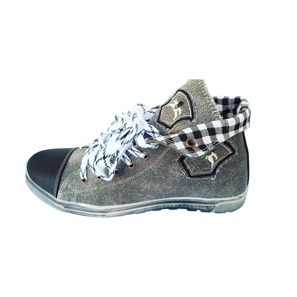 Damen Trachten Sneakers Grau