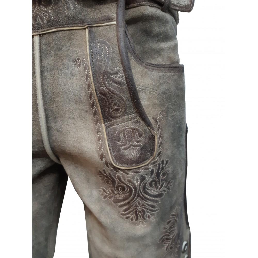 Kurze Herren Trachten Lederhose mit Gürtel, Mythos