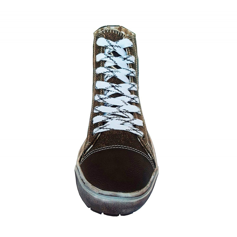 Herren Trachten Sneakers Dunkelbraun
