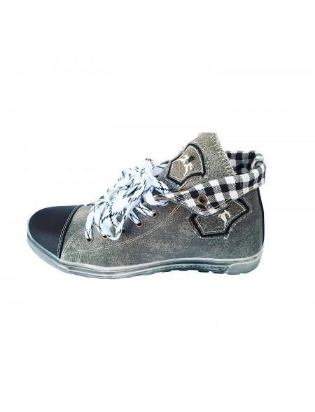 Herren Trachten Sneakers Grau