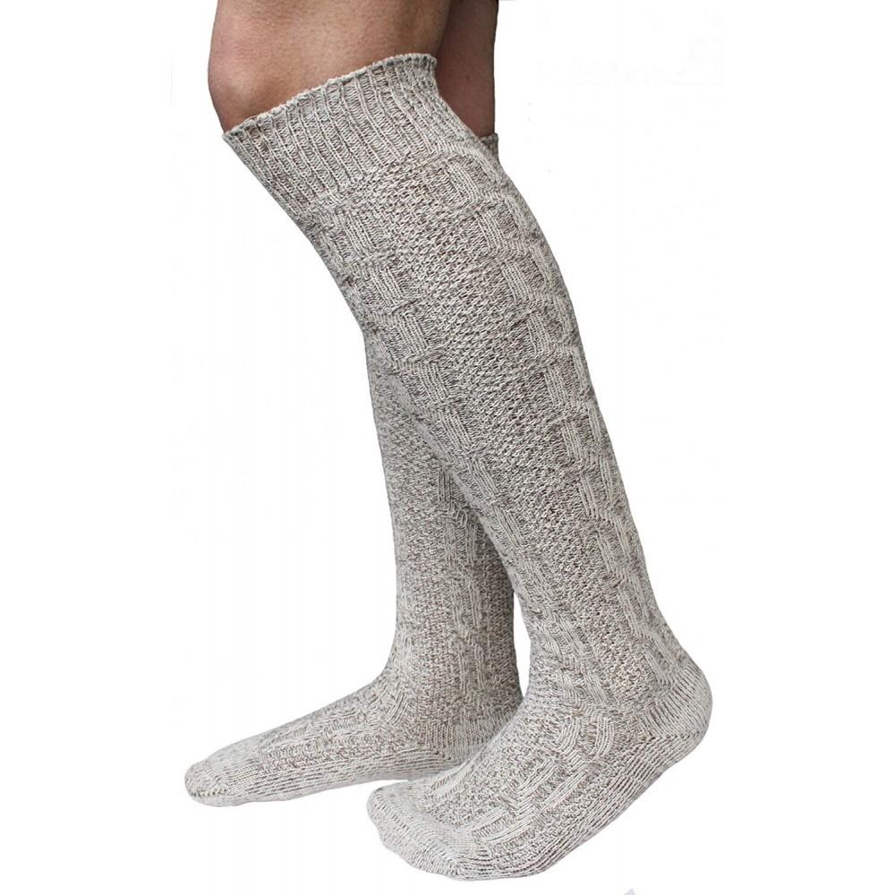 Trachten Kniebund Socken beige/meliert