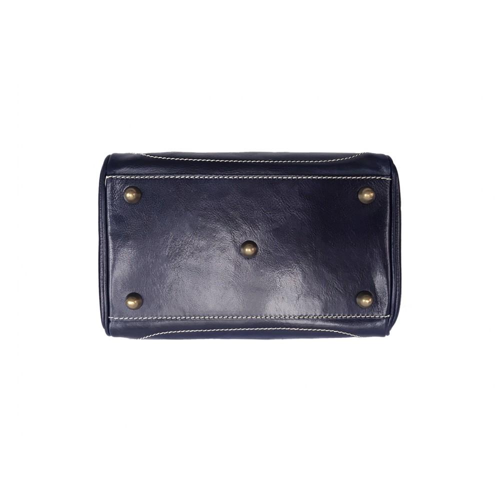 Vintage Italienische Leder Doktortasche Navy Blau (M)