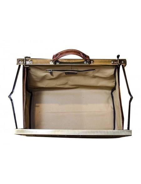 Vintage Italienische Leder Reisetasche Marrone (L)