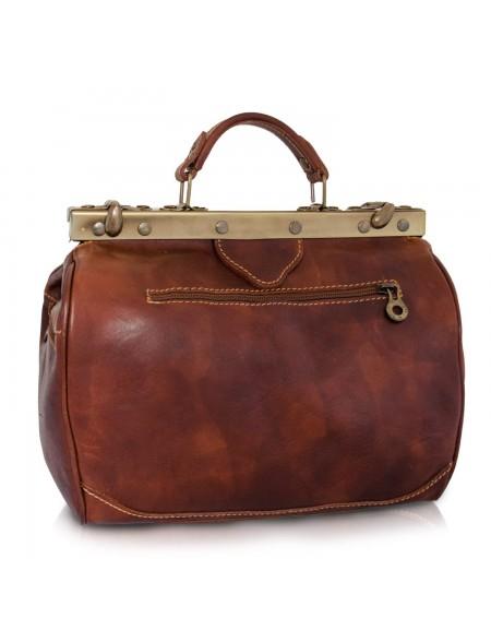 Vintage Italienische Leder Reisetasche Marrone (M)