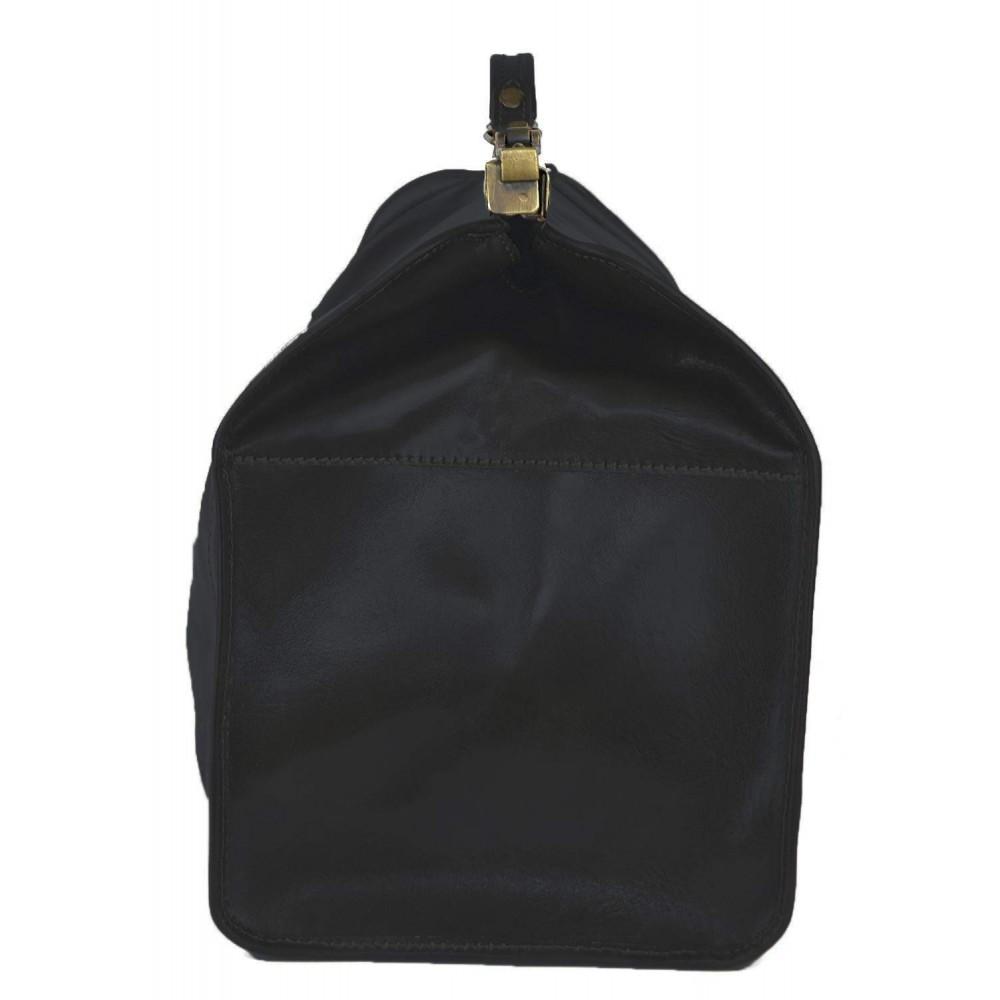 Vintage Italienische Leder Reisetasche Schwarz (L)