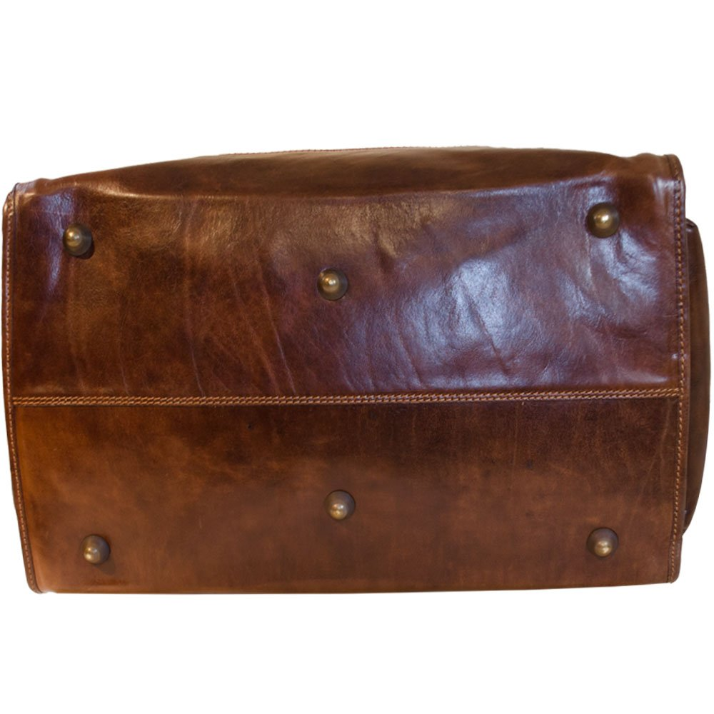 Vintage Italienische Leder Reisetasche Marrone (XXL)