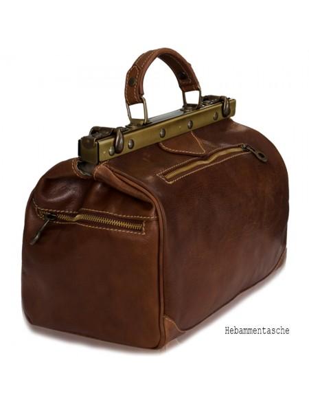 Vintage Italienische Leder Set XL + M, Marrone